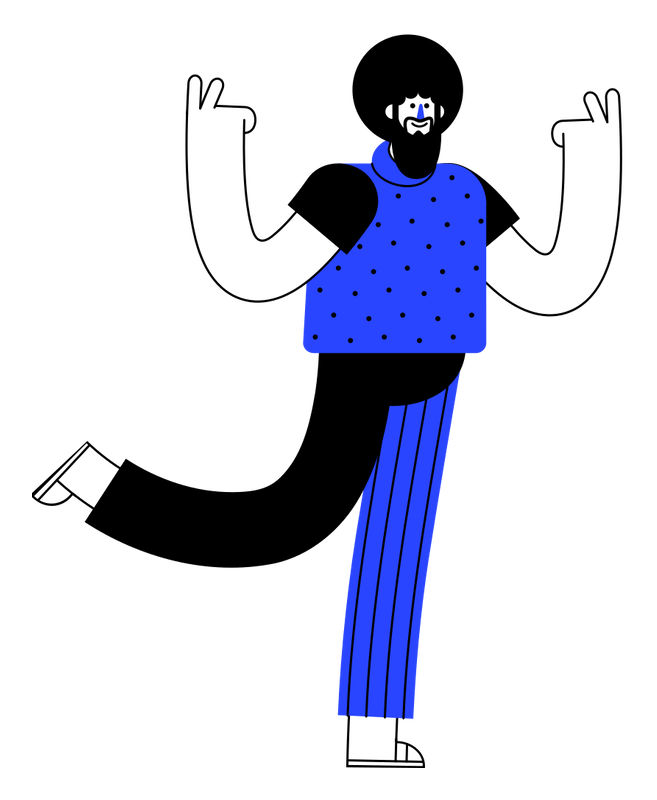 illustration of man standing